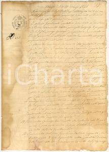 1848 PENNE PE Antonio GAMBACORTA risarcisce olio chiaro