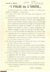 1954 SUTRI (VT) Ente MAREMMA contro falsi de L'UNITA'