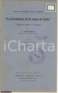 1915 Durkheim, Libello contro tedeschi e la guerra