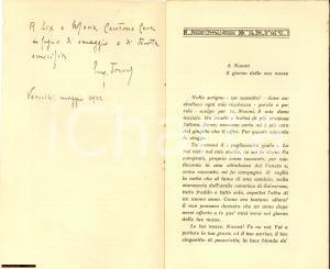 1920 EUGENIO TREVES Il pagliaccetto giallo AUTOGR.