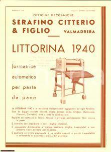 1940 Littorina - Citterio & Figlio - Reclame Pane