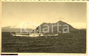 1943 Lago Maggiore Piroscafo ruota PIEMONTE real photo