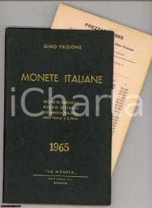 1965 Gino FRISIONE Catalogo monete italiane ILLUSTRATO