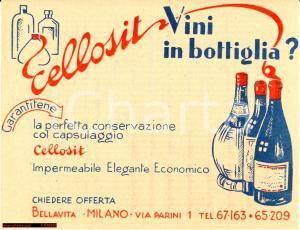 1938 Capsule bottiglie vino CELLOSIT - Bellavita