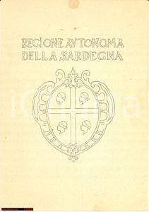1952 MENU Viaggio inaugurale MOTONAVE SICILIA