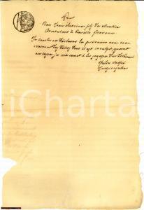 1805 ca. REVELLO (CN) dichiarazione di innocenza