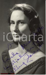 1960 circa ELENA ZARESCHI Fotocartolina AUTOGRAFA
