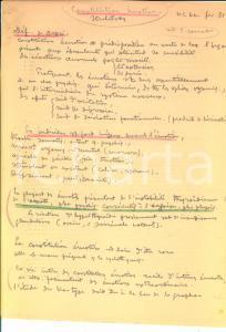 1940 GRAFOLOGIA Joseph DELPECH DE FRAYSSINET su costituzione emotiva *AUTOGRAFO