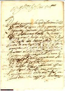 1696 CASALE (AL) Giacinto Camillo CANINI chiede onorari