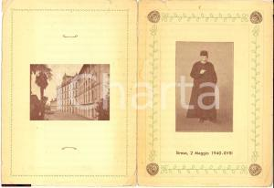 1940 STRESA menù goliardico prof.Paggi Collegio Rosmini