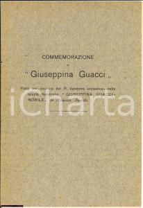 1922 NAPOLI Commemorazione di GIUSEPPINA GUACCI-NOBILE