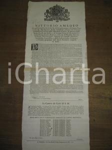 1720 TORINO diritti feudi e 'disubbidienza de'vassalli'