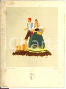 1940 nave URANIA menù di bordo illustratore ACCORNERO