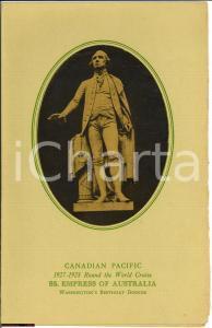 1928 CANADIAN PACIFIC menù Washington's birthday dinner