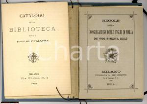 1884 MILANO Congregaz. FIGLIE DI MARIA Regole Catalogo