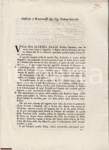 1776 FIRENZE Concordato PIETRO LEOPOLDO e CLEMENTE XIV