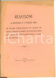 1905 ROVIGO Consorzi del Bacino Inferiore BONIFICHE