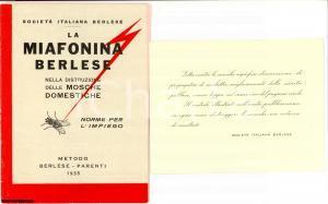 1935 GENOVA Miafonina BERLESE contro mosche domestiche