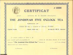 1910 ca PARIS The Jondovah Five O'Clock Tea - Actions