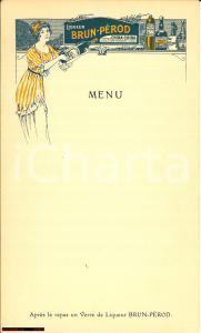 1910 (?) Liqueur BRUN-PEROD vintage menu
