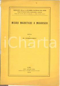 1932 Mario BOSSOLASCO Misure magnetiche a Mogadiscio