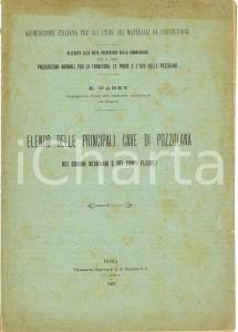 1907 NAPOLI Enrico GABET Cave pozzolana CAMPI FLEGREI