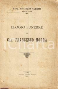 1915 ALESSIO PATRIZIO ELOGIO CANONICO FRANCESCO MORRA
