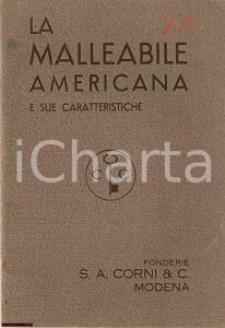 1930 ca MODENA Fonderie CORNI La malleabile americana