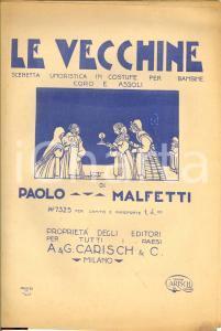 1920 ca MILANO Paolo MALFETTI Le vecchine ill. BONFANTI