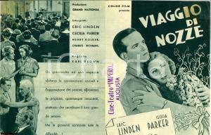 1936 Karl BROWN Viaggio di nozze Volantino cinema