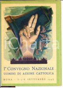 1947 ROMA I° Congresso AZIONE CATTOLICA pieghevole