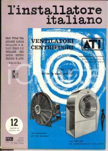 1957 MILANO L'installatore italiano - n° 12 rivista