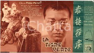 1937 La tigre verde Peter LORRE Mr MOTO volantino