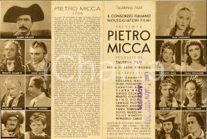 1938 Aldo VERGANO Pietro Micca volantino film