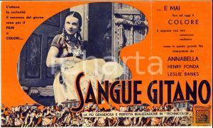 1937 Harold D. SCHUSTER Sangue gitano volantino film