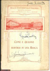 1910 ca MILANO BCI Come e quando servirsi di una banca