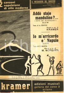 1957 Canzoni napoletane Addò staje mandulino - rivista
