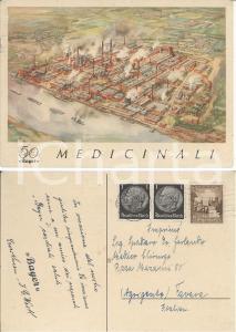 1940 BAYER Medicinali Cartolina pubblicitaria 50 Anni