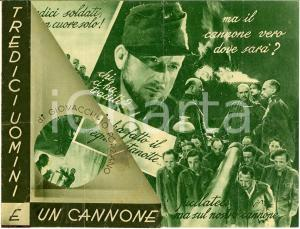 1936 G. FORZANO Tredici uomini e un cannone Volantino