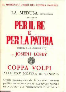 1964 Joseph LOSEY Per il Re e per la patria Volantino