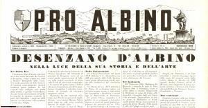 1958 PRO ALBINO (BG) Desenzano al Serio RIVISTA