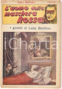 1936 L'UOMO DALLA MASCHERA ROSSA I gioielli di Lady Benthau *Rivista n°2