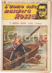 1936 L'UOMO DALLA MASCHERA ROSSA I delitti della città cinese *Rivista n°25
