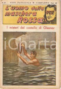 1936 L'UOMO DALLA MASCHERA ROSSA Misteri del castello di Glesnor *Rivista n°21