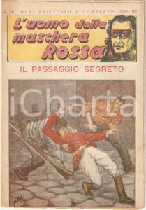 1936 L'UOMO DALLA MASCHERA ROSSA Il passaggio segreto *Rivista n°19