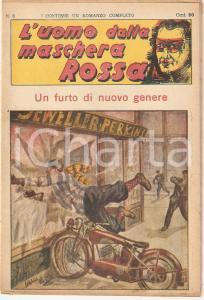 1936 L'UOMO DALLA MASCHERA ROSSA Un furto di nuovo genere *Rivista n°6