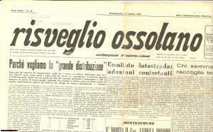 1967 RISVEGLIO OSSOLANO Settimanale n. 40