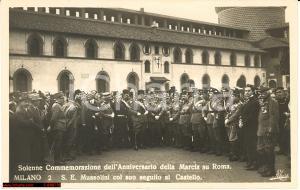 1930 Milano Commemoraz. Marcia su Roma, Mussolini
