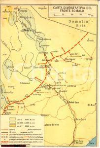 1935 FRONTE SOMALO Guerra Etiopia Cartolina con carta dimostrativa FG NV
