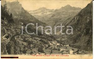 1906 Alagna Valsesia - Veduta generale d'abitato